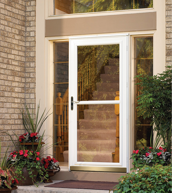 Front doors entry doors patio doors garage doors storm for Glass door in front of exterior door